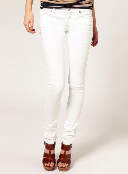 Stretch White Jeans