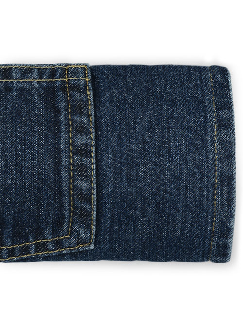 Wicker Blue Vintage Wash Jeans - Click Image to Close