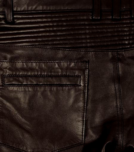 Leather  Biker Jeans - Style #555 - 50 Colors