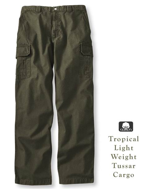 Tropical Light Weight Fine Tussar Cotton Cargo Pants