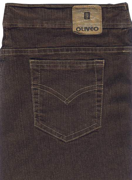 Killer Brown Stretch Denim Jeans - Dark Wash