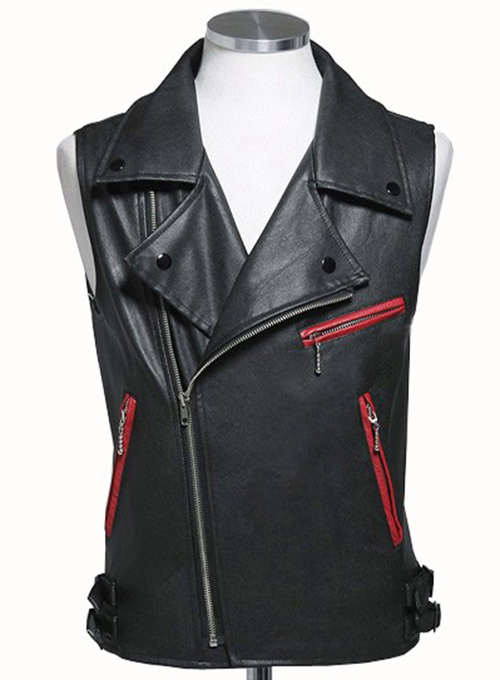 Leather Biker Vest 310 Makeyourownjeans 174 Made To