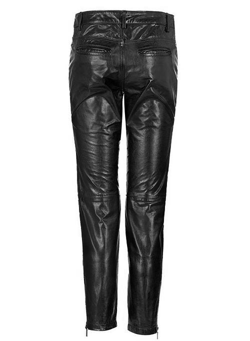Leather  Biker Jeans - Style #500- 50 Colors