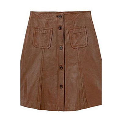 Button-Up Leather Skirt - # 121 - 50 Colors