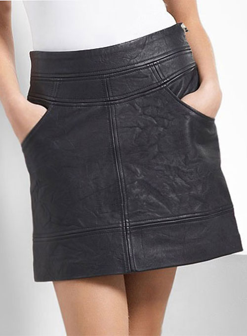 Flirty Leather Skirt - # 120