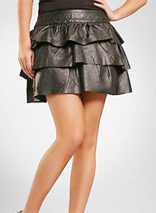 Layered Leather Skirt - # 123 - 50 Colors