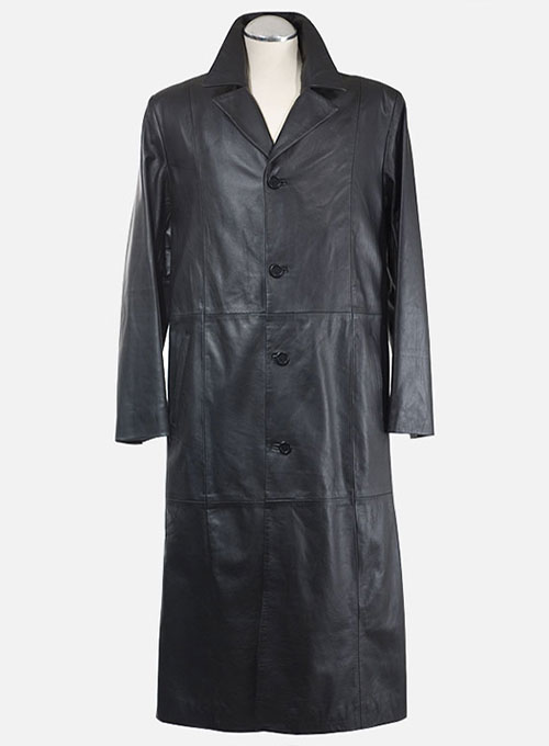 Leather Long Coat #201