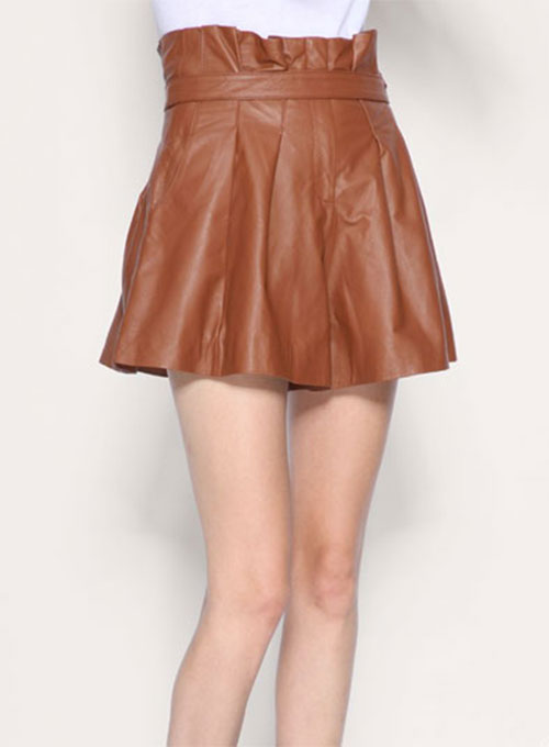 Stone Wrap Leather Skirt - # 125 - 50 Colors