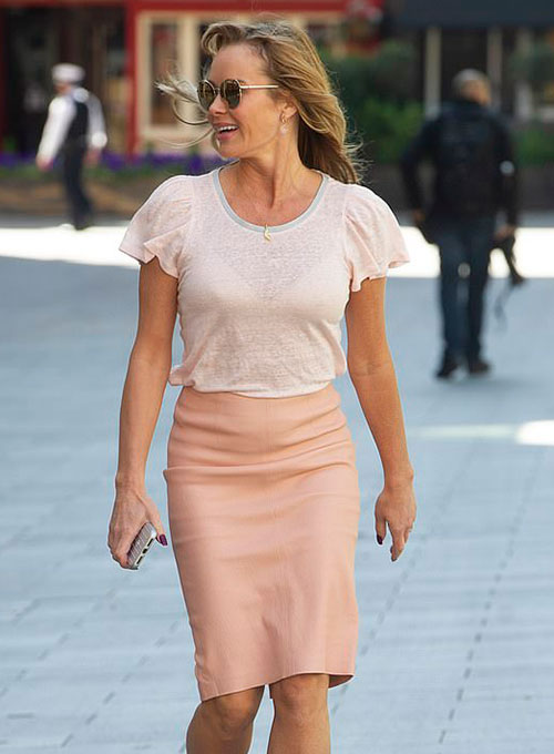 Amanda Holden Leather Skirt