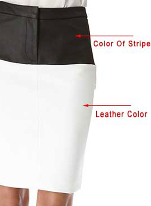 Bandage Stripe Leather Skirt - # 195 - 35 Colors