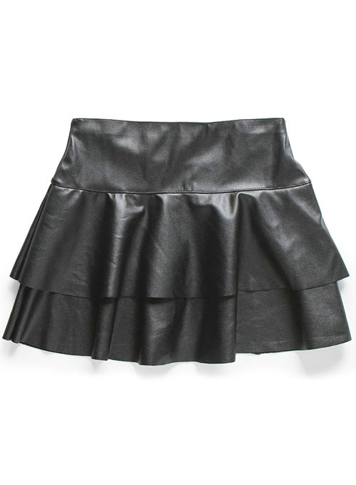 Baseball Flare Leather Skirt - # 482