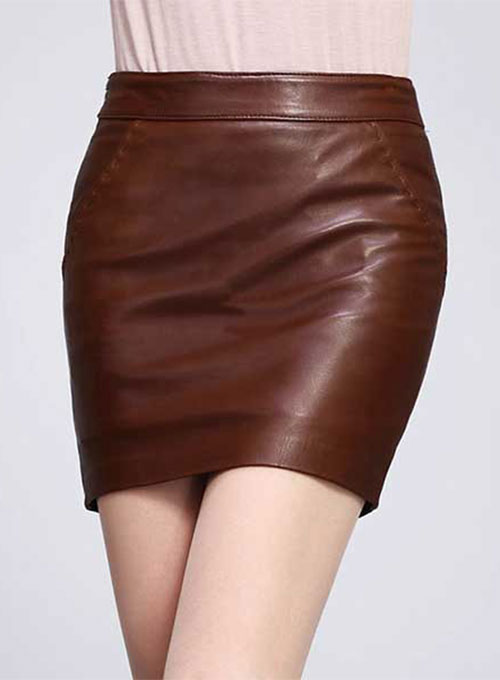 Basic Leather Skirt - # 153 - 50 Colors