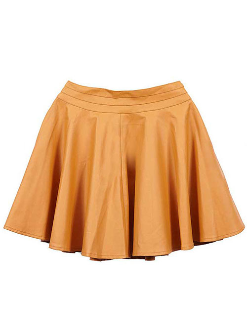 Beloved Flare Leather Skirt - # 434 - 50 Colors