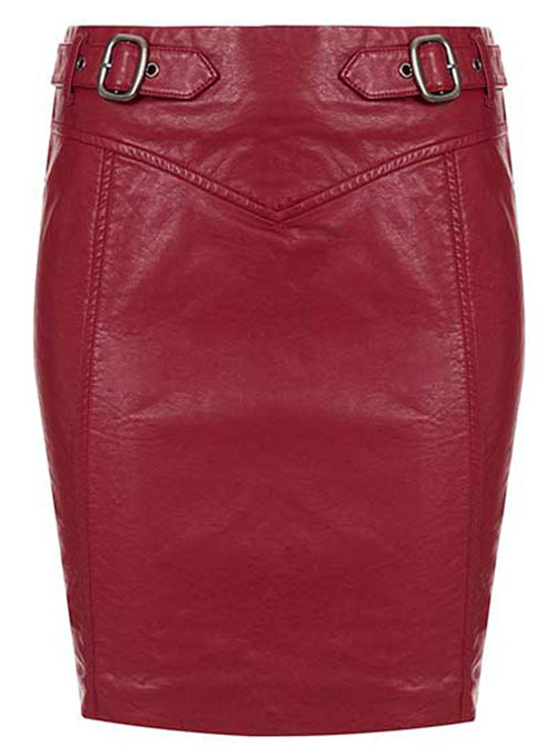 Belted Leather Skirt - # 155 - 50 Colors