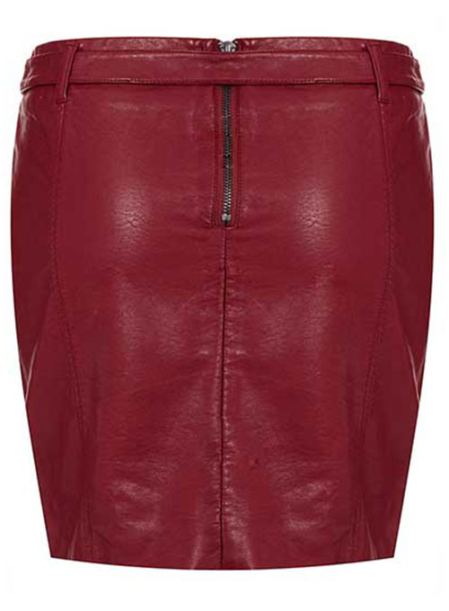 Belted Leather Skirt - # 155