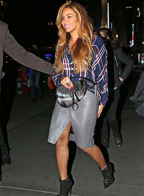 Beyonce Leather Skirt #2