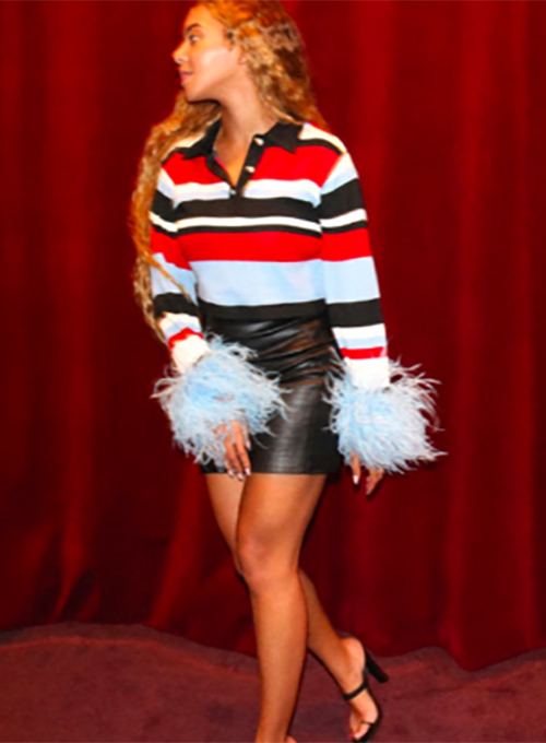 Beyonce Leather Skirt