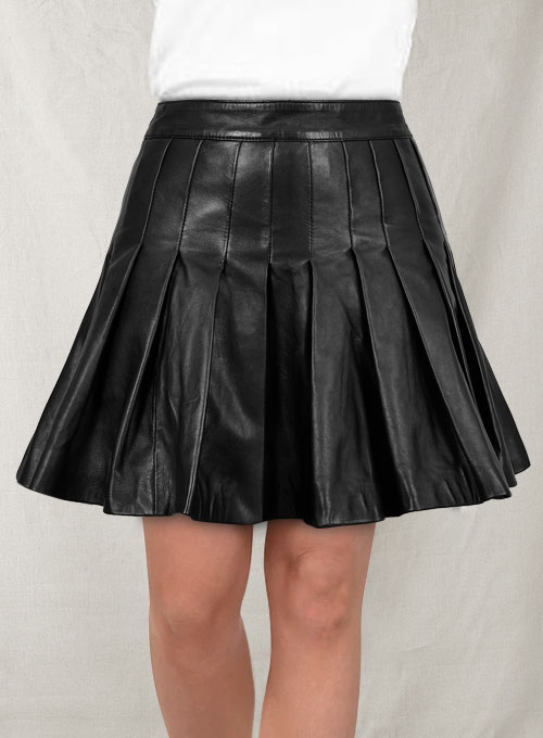 Jessica Biel Leather Skirt
