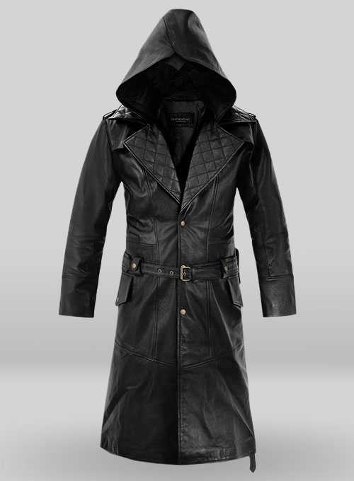 Black Assassin's Creed Jacob Frye Leather Long Coat