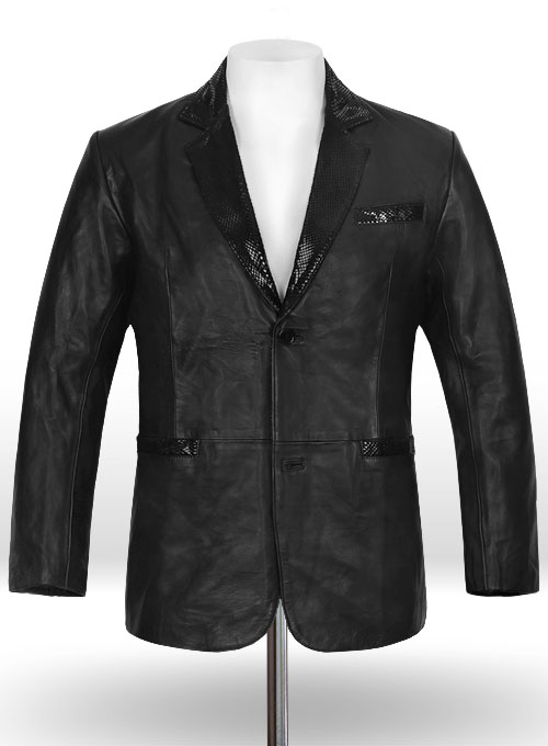 Black Hampton Leather Blazer