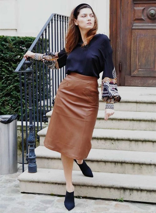 Blanca Blanco Leather Skirt