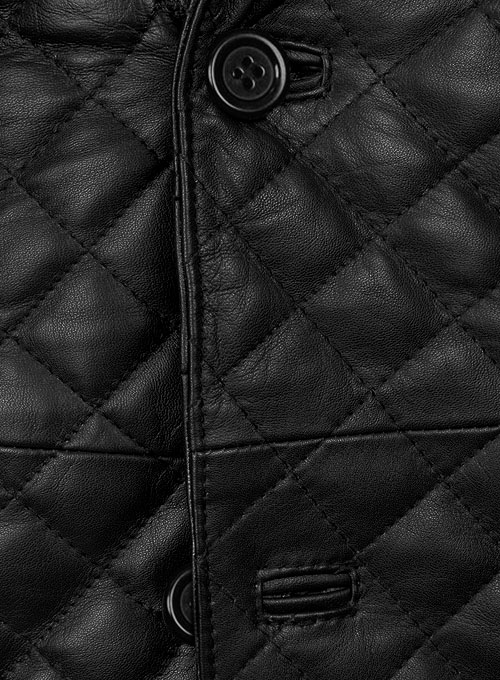Bocelli Quilted Leather Blazer - Click Image to Close