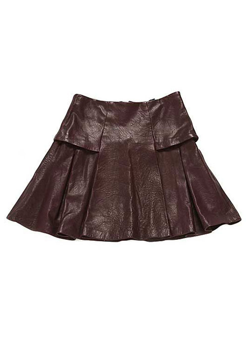 Box Pleat Leather Skirt - # 159 - 50 Colors