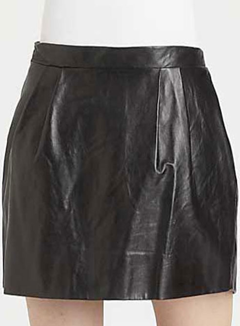 Bubble Leather Skirt - # 140