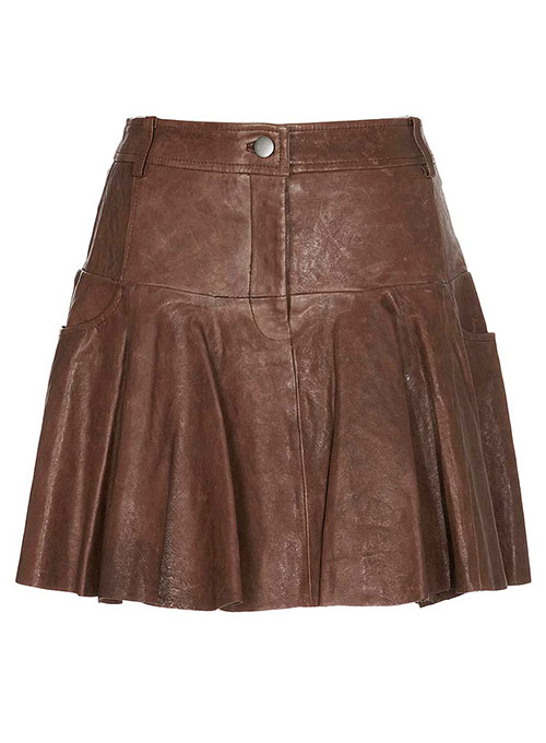 City Addiction Flare Leather Skirt - # 404