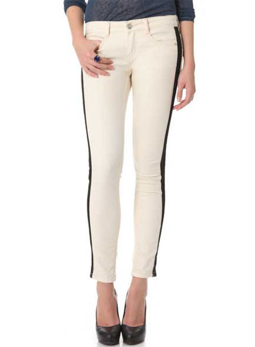 ComboStripe Leather Jeans- 50 Colors