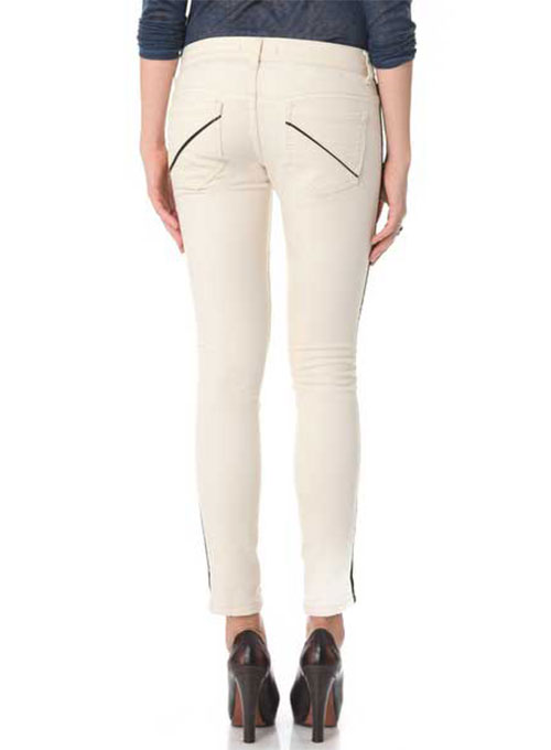 ComboStripe Leather Jeans