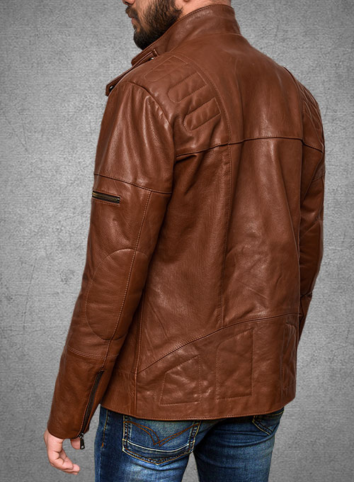 Cruiser Biker Leather Jacket - Click Image to Close