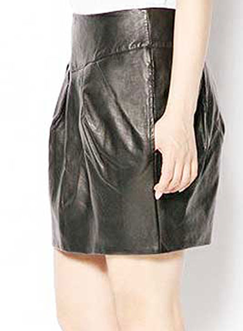 Curvy Leather Skirt - # 426  - 50 Colors