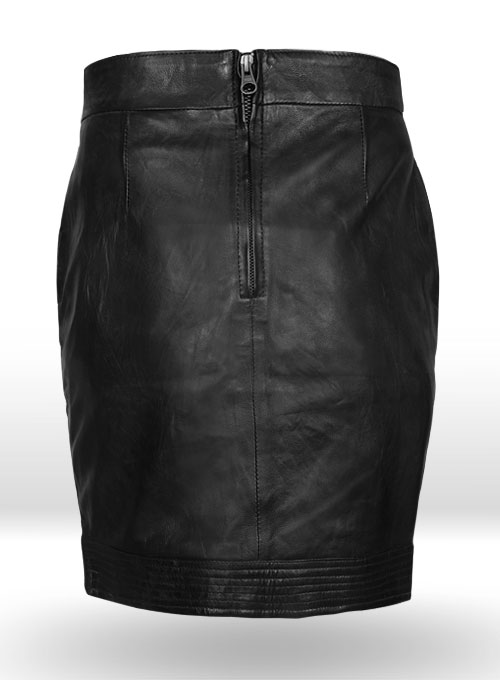 Dart Leather Skirt - # 456