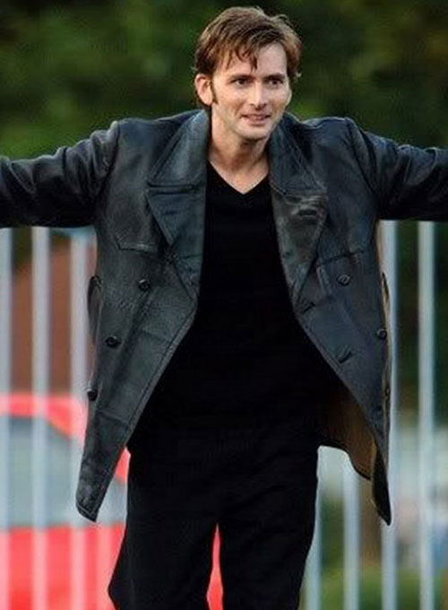 David Tennant Doctor Who Leather Trench Coat - Click Image to Close