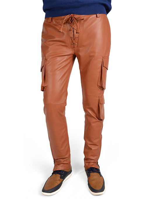Drifter Leather Cargo Pants - Click Image to Close