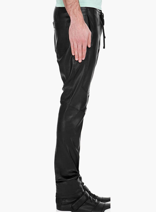 Drawstring Designer Leather Pants- 50 Colors