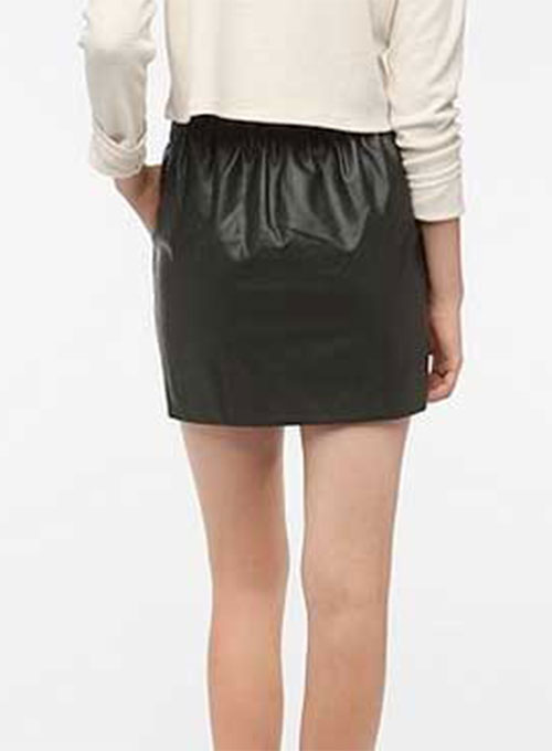 Leather Skirt With Elastic Waist - 50 Colors