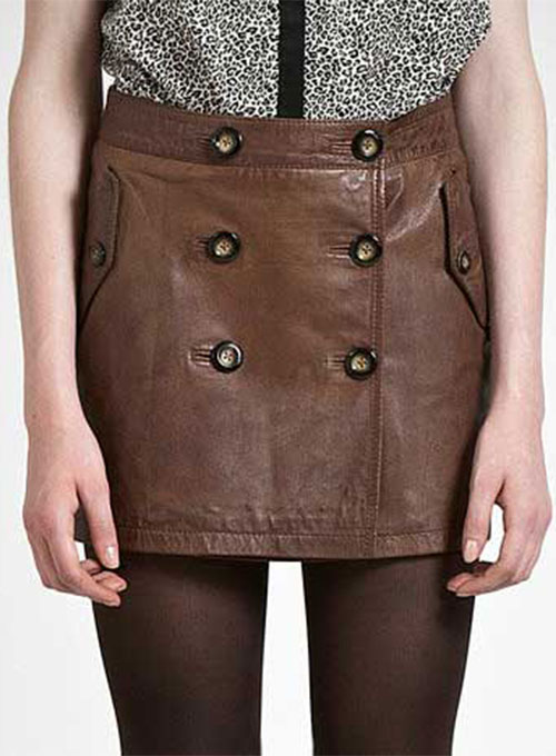 Eyelet Leather Skirt - # 160 - 50 Colors