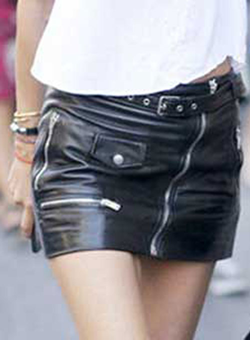 Flattery Leather Skirt - # 446 - 50 Colors