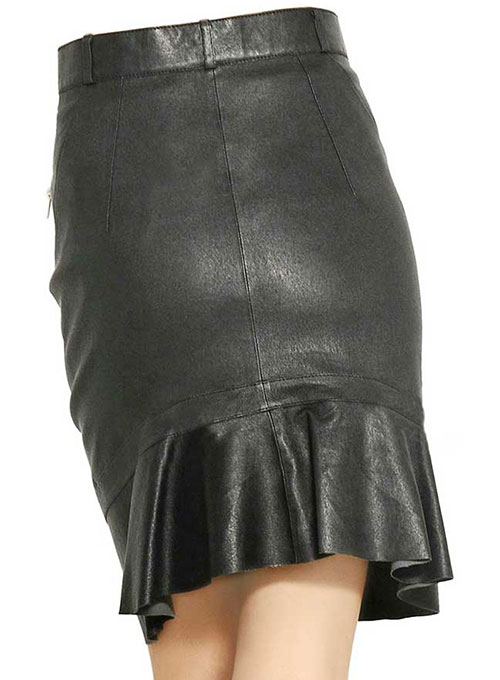 Fleur Leather Skirt - # 430