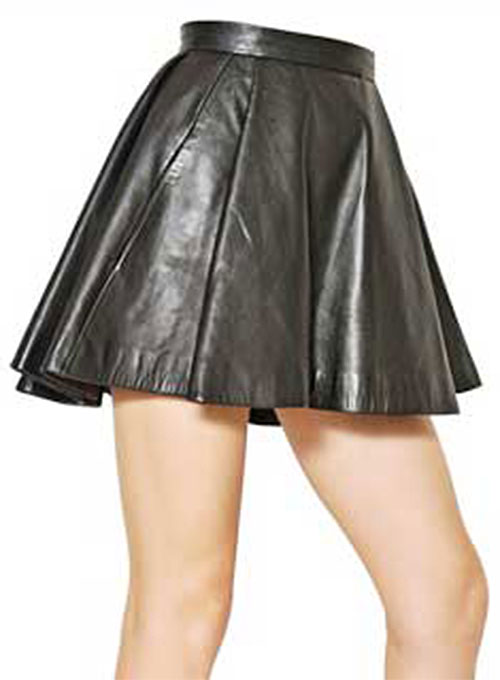 Flounced Leather Skirt - # 141 - 50 Colors