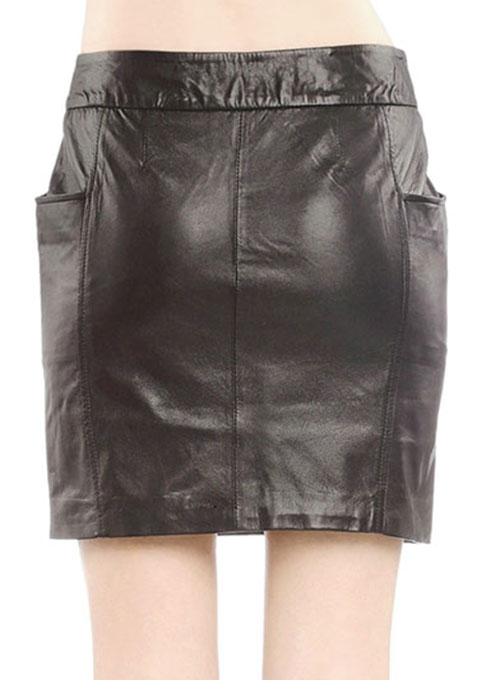 Fluted Leather Skirt - # 164 - 50 Colors