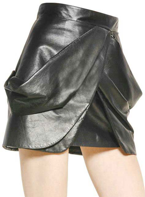French Drape Flare Leather Skirt - # 438 - 50 Colors
