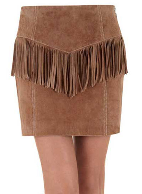 Fringe Leather Skirt - # 184 - 50 Colors