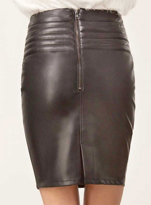 Front Yoke Leather Skirt - # 454 - 50 Colors