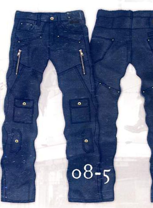 Leather Cargo Jeans - Style 08-5 - 50 Colors
