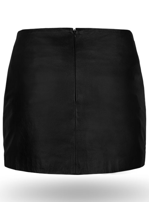 Geneva Lace-Up Leather Skirt - Click Image to Close