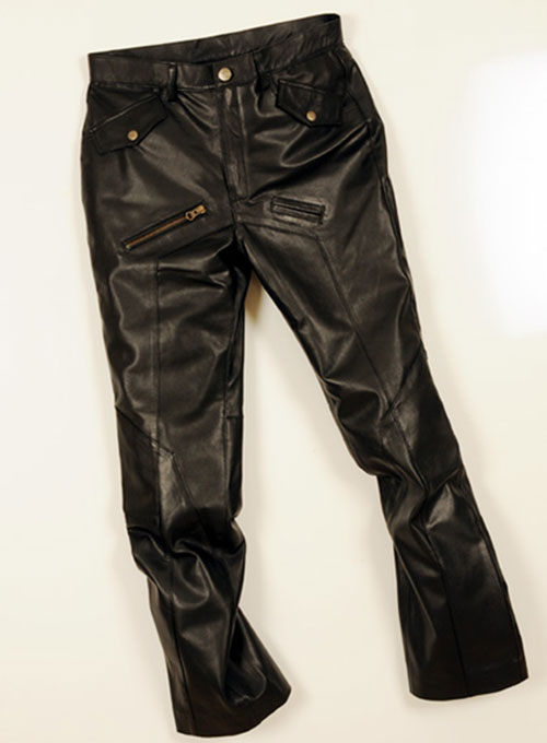 Leather Cargo Jeans - Style 01-2