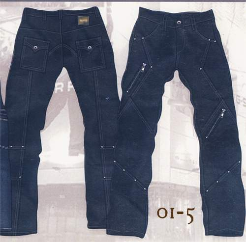 Leather Cargo Jeans - Style 01-5 - 50 Colors
